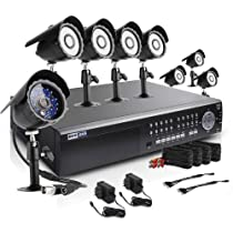 Zmodo KDK6-NARQZ8ZN-2T 16-Channel Security Surveillance High-Performance DVR System with 8 CCD Bullet Indoor/Outdoor Cameras with 2TB Hard Drive (Black)