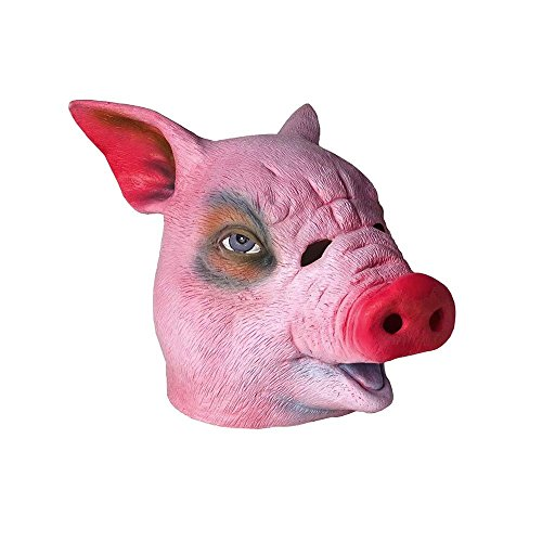 Pig Head Mask Scary Halloween Cosplay Party Costume-Set of 3