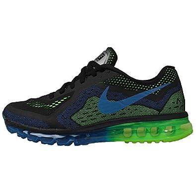 Nike Mens Air Max 2014 Running Shoes - Black/Photo Blue/Electric Green (6)