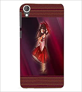 PrintDhaba Umbrella Girl D-4073 Back Case Cover for HTC DESIRE 820 (Multi-Coloured)