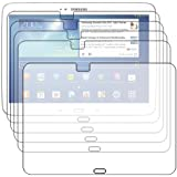 Lot x5 FILM Protecteur Anti-rayure ebestStar - pour Tablette Samsung Galaxy TAB 3 10.1 P5200 / P5210 / P5220 / GT-P5210ZWAXEF - pack x 5 protection d'écran tactile, LCD, cristal, transparent + chiffonnette (microfibre / chiffon)