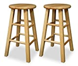 "Winsome 24"" Counter Height Bar Stools in Natural (Set of 2)"