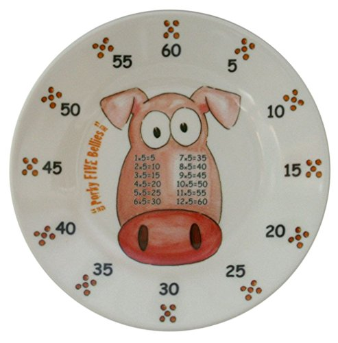 The Multiples Times Table Dinnerware Porky Five Bellies 6.5 inch Melamine Plate