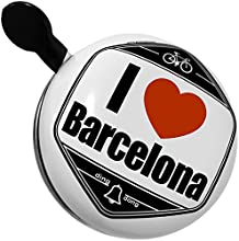 Bicycle Bell I Love Barcelona region Spain Europe by NEONBLOND