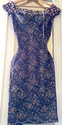Mandalay Smoke Sequin Lace Dress