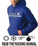RTFM SYMBOL HOODIE Sweatshirt Royalblue sz.XL