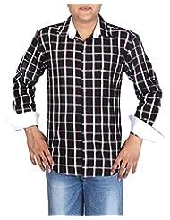 BLACK & WHITE Men's Slim Fit Shirt - B00WMRARJI
