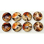 Set of 8 Vintage Music Dresser Drawer Cabinet Knobs