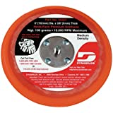 Dynabrade 54327 6-Inch Diameter Hook-Face Short Nap 3/8-Inch Thick Urethane Medium Density 5/16-Inch-24 Male Thread Non-Vacuum Disc Pad, Orange