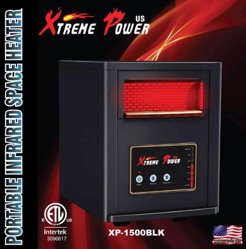 1500W 4 Seasons Quartz Infrared Heater Humidifier Plasma Inverter Air purifier (XP 1500W Black) (Xtreme Power Quartz Heater compare prices)