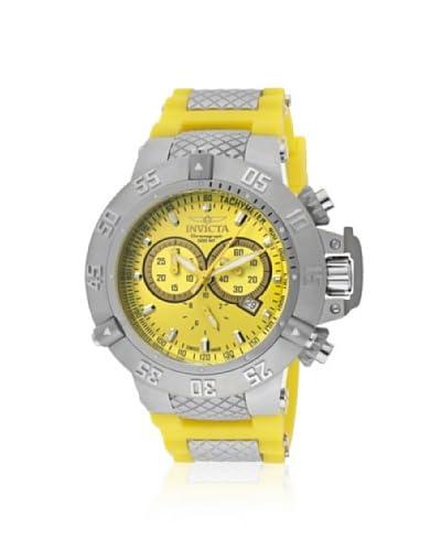 Invicta Men's 1377 Subaqua Noma III Chronograph Yellow Dial Yellow Polyurethane Watch