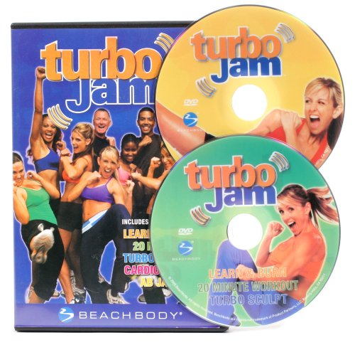 ターボジャム 【turbo Jam】 米国版 DVD2枚組 キックボクシング、ダンス、有酸素運動を組み合わせた10日間ダイエットプログラムDVD 22813