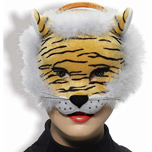 Tiger Deluxe Plush Animal Mask