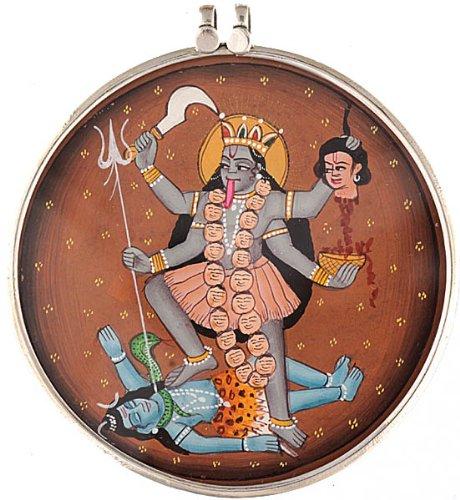 Goddess Kali Large Pendant - Sterling Silver