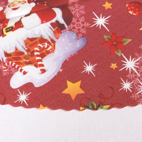 wachstuch tischdecke rund 140 cm weihnachten x mas glatt motiv und farbe w hlbar schneemann rot. Black Bedroom Furniture Sets. Home Design Ideas