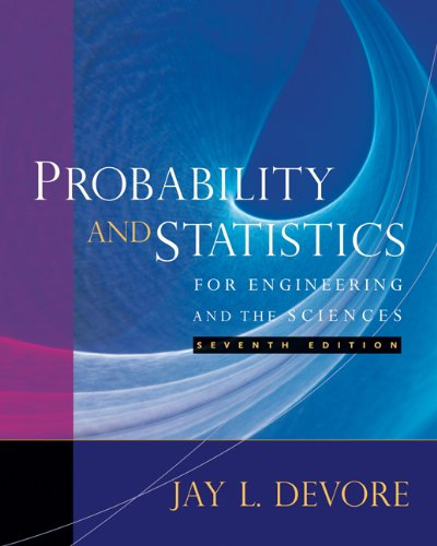 Probability and Statistics for Engineering and the Sciences, Jay L Devore Solutions Manual