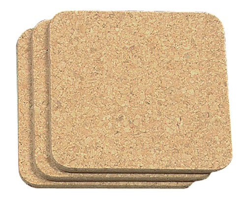 Fox Run Brands Cork Trivets, Square, Set of 3