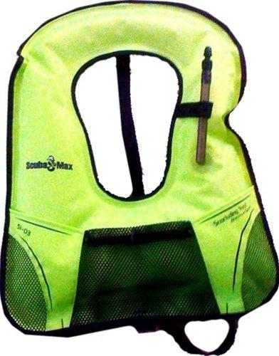 Bright Yellow Snorkel Vest with Mesh Pocket - XL