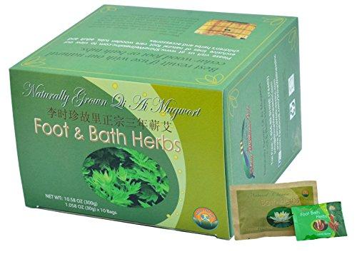 1 Box Mugwort Foot/Bath Herbs Plus 2 FREE bags of Foot & Bath Herbs samples $7 Value (Foot Wood Bath compare prices)