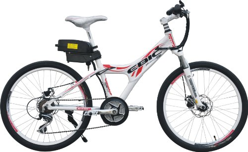 Anbike Ebic H350 Mid/Crank Motor Drive Full Auto & Assist Electric Bicycle, Shimano 7 Speed, Front & Rear Disc Brake, Topgun Shock-Absorbing Front Fork