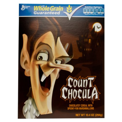 Monster Cereal, Count Chocula, 10.4-Ounce Boxes (Pack of 4)