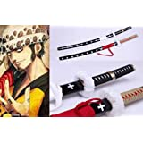 Dream2reality Cosplay One Piece Trafalgar Law Sabre Replica Sword T10 Clay Tempered High Carbon Steel Full Handmade Full Tang Katana