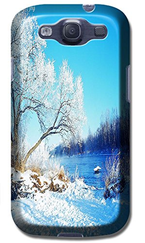 Phones Accessories Beautiful White Snow Tree Vellege Design Cases For Samsung Galaxy S3 I9300 # 4