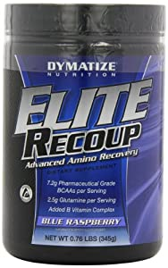 Dymatize Nutrition Elite Recoup, Blue Raspberry, 30-Count