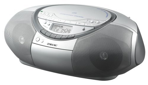Sony CFD-S350 CD/Cassette Portable Boombox (Silver)
