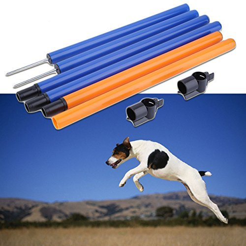[10599 cm. Pet agility dog training play jump pole tunnel bar outdoor] (Shock Treatment Costumes)