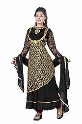 Shraddha Fashion Hub Women's Georgette Unstitched Dress Material (FS1550_Black)