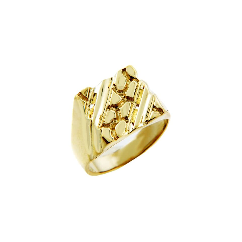 mens gold nugget rings the apex solid gold nugget ring on