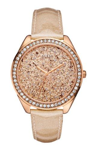 GUESS Women's U0155L1 Extra Dazzling Rose Gold-Tone Trend Watch