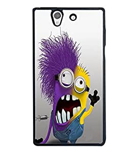 Fuson Premium 2D Back Case Cover Mimo With blue Background Degined For Sony Xperia Z::Sony Xperia Z L36h