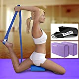 Yes4all Yoga Strap and Yoga Block 2 Pack Set Combo