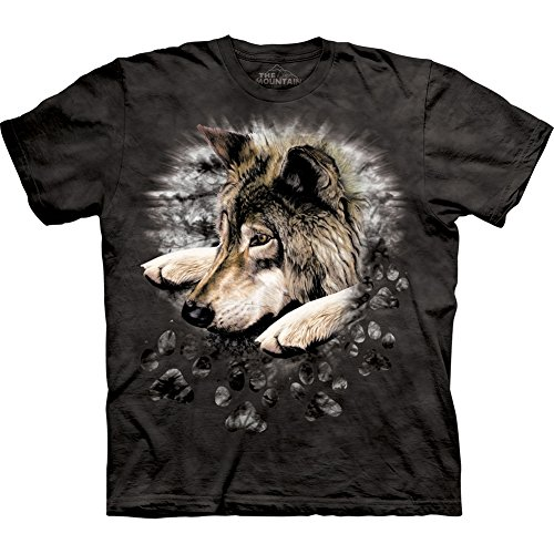 Wolf In Dyed Paw T-Shirt 100% Cotton Kids - Teens And Adults Short Sleeve Shirt (Youth X-Large(14T-16T)) front-570341