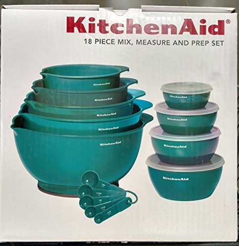 KitchenAid 18 Piece Mix, Measure and Prep Bowl Set (Turquoise)