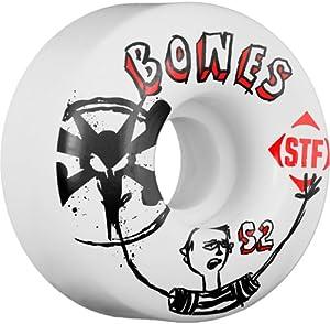Buy Bones Featured Artist Russ Pope Los Otros Skateboard Wheels (White) by Bones Wheels