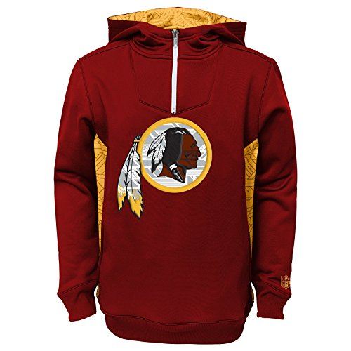 "Washington Redskins Youth Bambino NFL ""Power Logo"" Performance Hooded SweatShirt Camicia"
