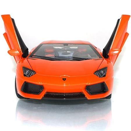 Lamborghini Aventador LP700-4 échelle 1/18 modèle de voiture en alliage couleur orange