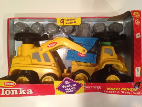 Tonka Wheel Drivers Loader & Stake Truck