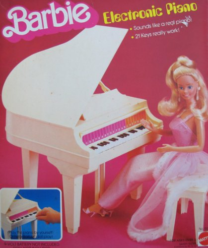 Barbie Electronic Piano - Baby Grand Piano W Bench & More! (1981 Mattel, Hawthorne)