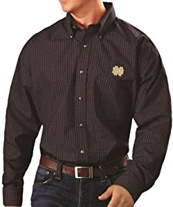 Notre Dame Fighting Irish Antiqua Esteem Long Sleeve Button Down Dress Shirt by Antigua