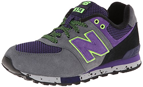 New Balance Kl5749 Grade Lace Up Outdoor Running Shoe (Big Kid),Grey/Purple,6 M Us Big Kid