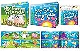 First Steps Baby Floating Bath Book Educational Fun Toy My Farm Friends