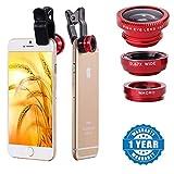 #10: Raptas Red Universal 3-In-1 Clip-On Fisheye + Wide Angle + Macro Lens for Xiaomi Mi, Apple, Samsung, Sony, Lenovo, Oppo, Vivo Smartphones