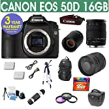 Refurbished Canon EOS 50D + Sigma 18-200mm OS Lens + 800mm Mirror Lens