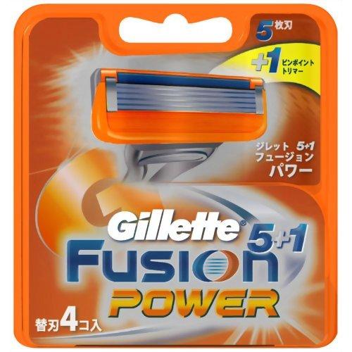 ジレット フュージョン 5+1 パワー替刃 4個入