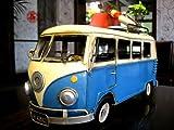 ChariotCCM アンティーク調 ブリキのおもちゃ ワーゲン バン サーフボード レスキュー BLUE