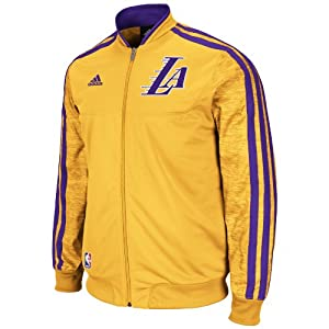 NBA Los Angeles Lakers On-Court Warm-Up Jacket Home Weekday by adidas